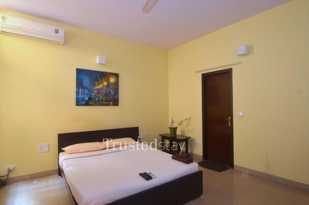 Service Apartment in Koramangala, Bangalore - A/C Bedroom