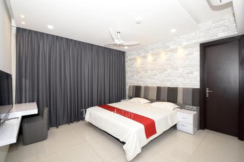Trustedstay Service Apartments in Pune | Master Bed Room
