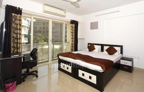 Bed Room | Service apartments in Mumbai