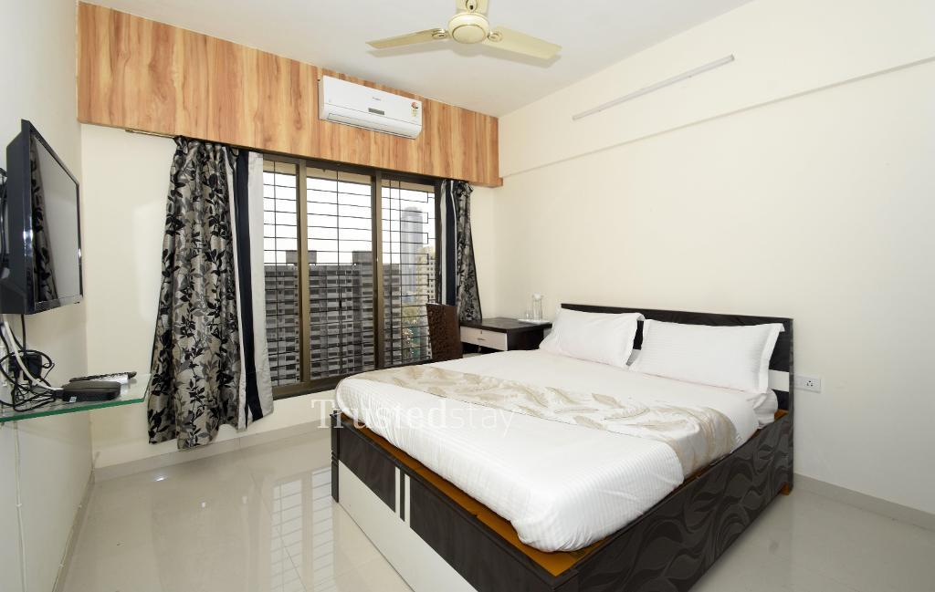 Master Bedroom | Service Apartments in Parel