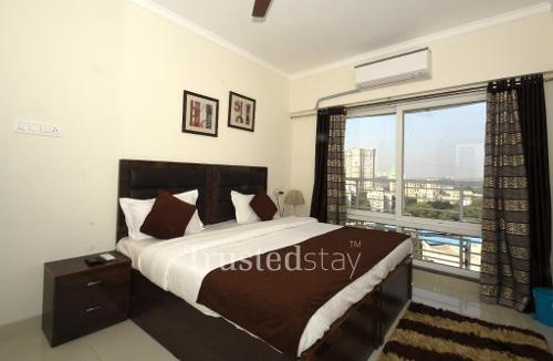 Bedroom | Trustedstay Service Apartments in Mumbai
