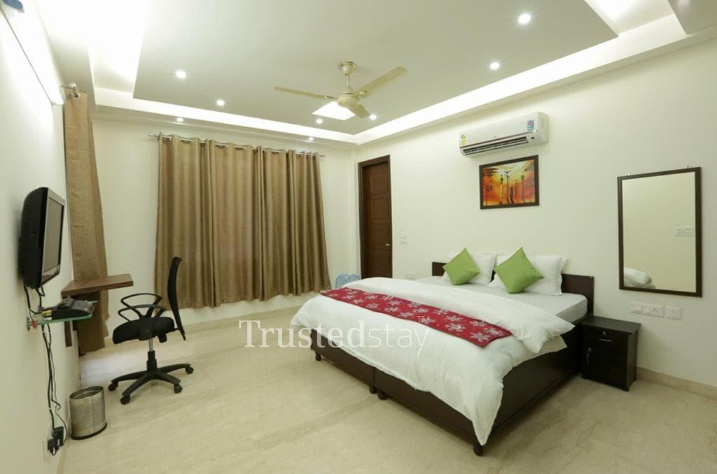 Book Trustedstay Service Apartments in Delhi   Bed Room
