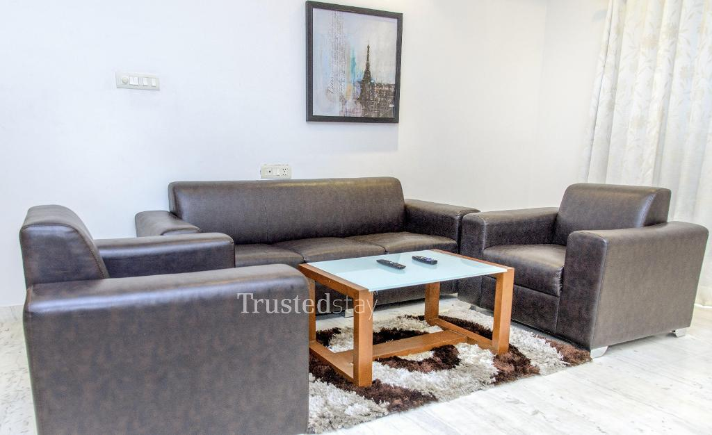 Furnished Service apartments in Banjara hills - Living area
