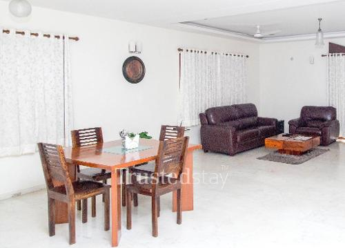 Book Service apartments in Jubilee Hills | Living area