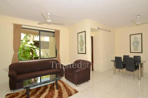 Book Service Apartments in Kalyani nagar | Pune - Living Room