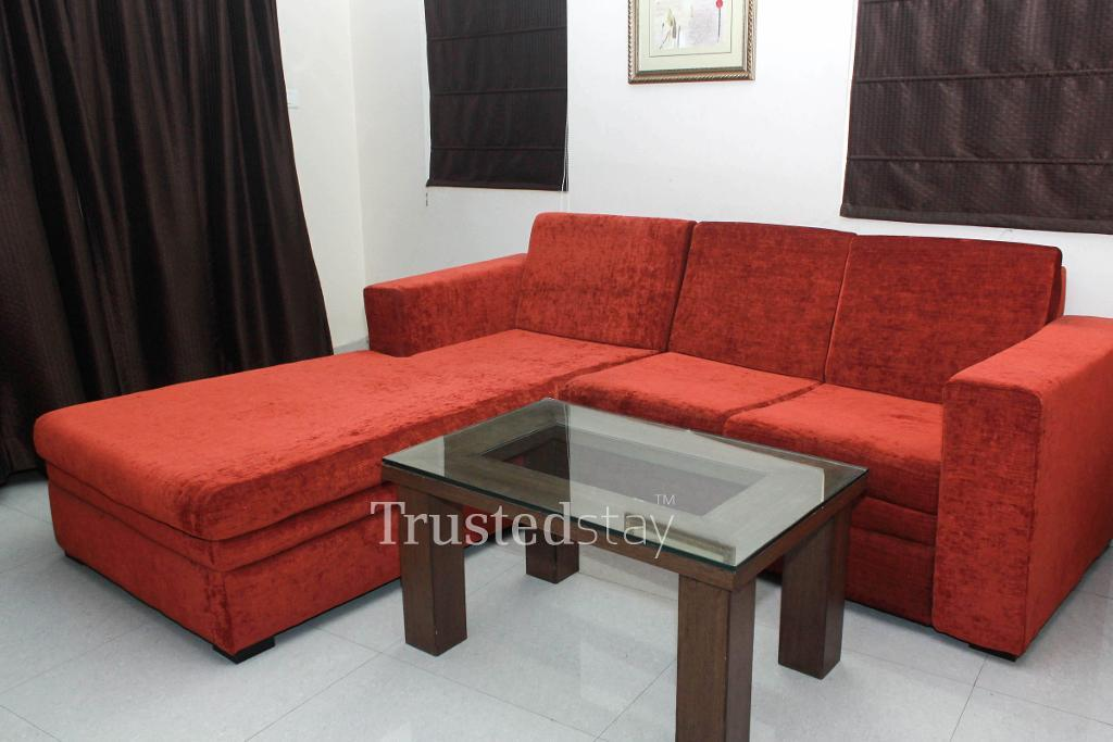 Book service apartments in Madhapur, Hyderabad - Living area