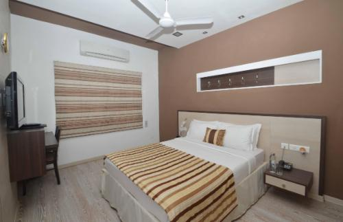 TrustedStay Service Apartments in Thyagaraya Nagar, Chennai - Bedroom