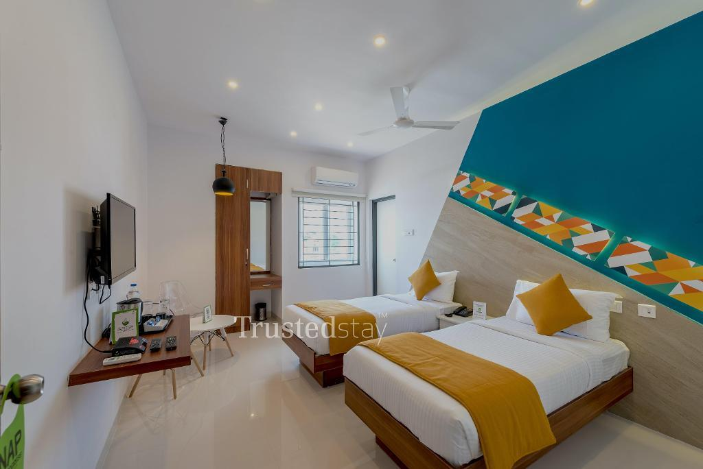 Bedroom at a Trustedstay property in Coimbatore   Plot No. 8 ( UPMKV1 )